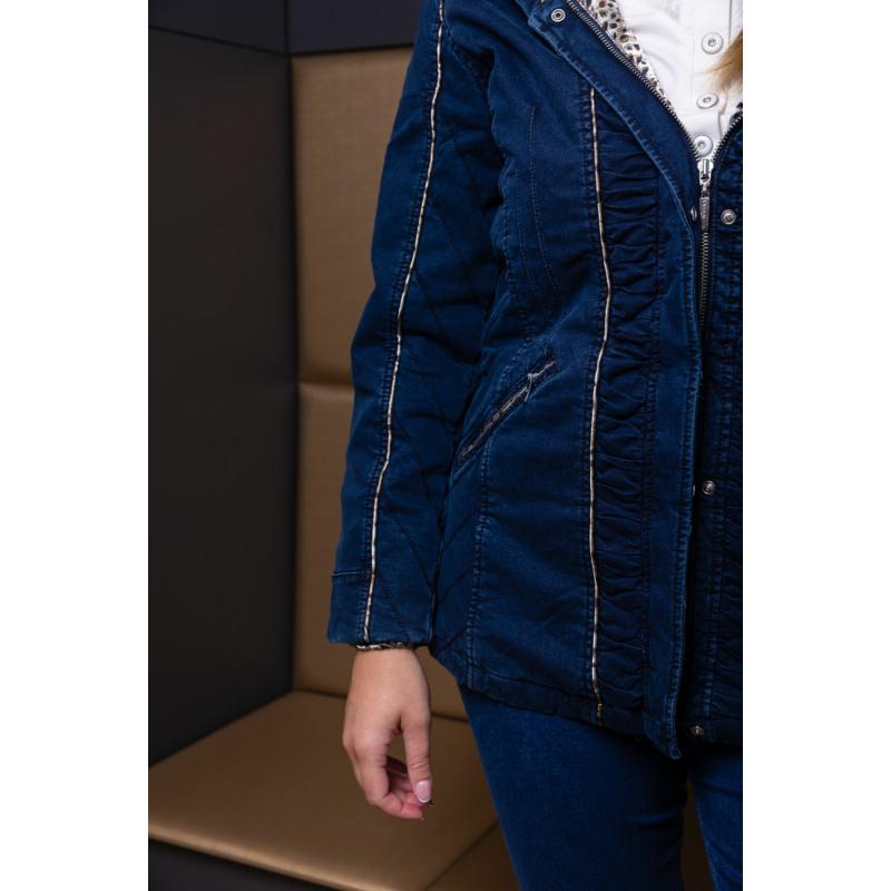 Lafei Nier selyemsálas sötétkék kabát