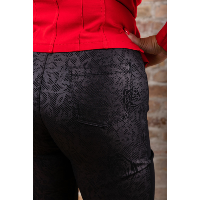 Lafei Nier - Rayon félig nyomott mintás női nadrág