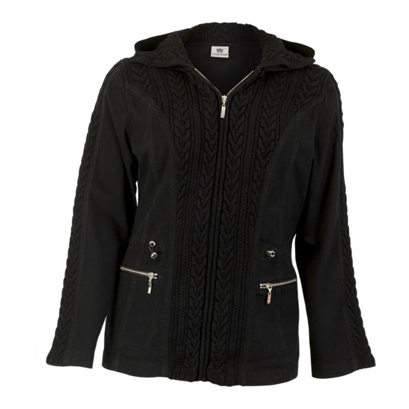 Lafei Nier kötött betétes fekete kabát