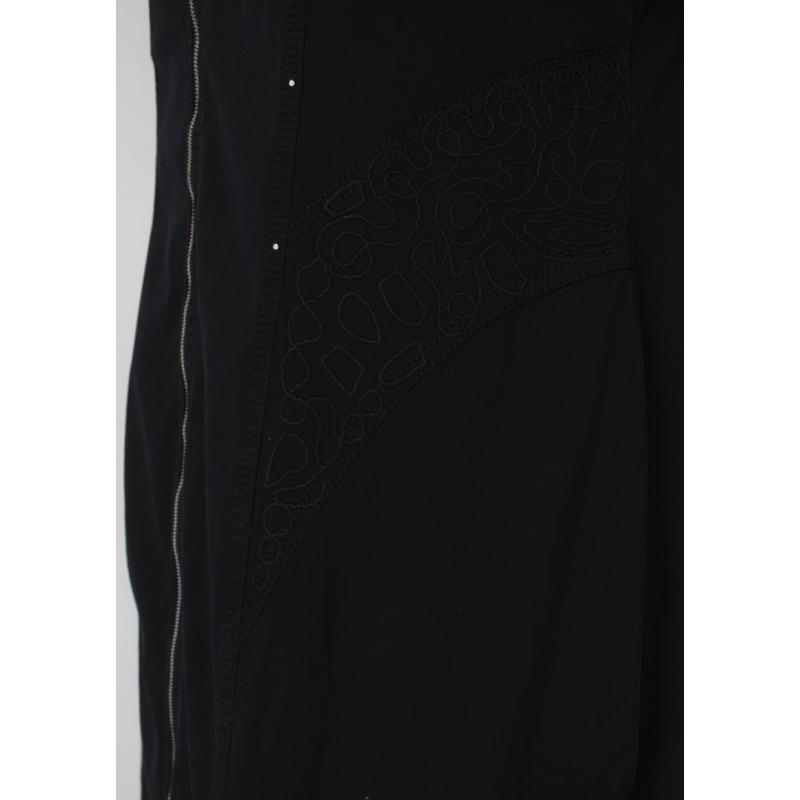 Lafei Nier nagyméretű hímzett fekete ruha